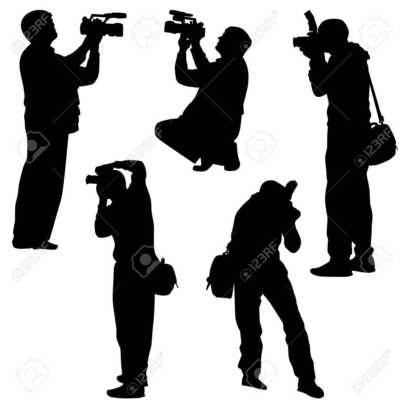 photographer silhouette vector stock vector 24365884