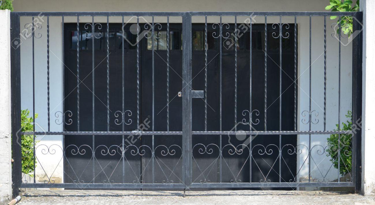 modern metal garage door. Modern Metal Gate For The Garage Stock Photo - 30808173 Door E
