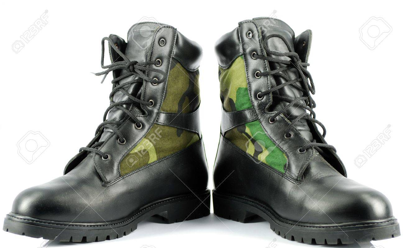 Military Combat Boots Stock Photo Picture And Royalty Free Image