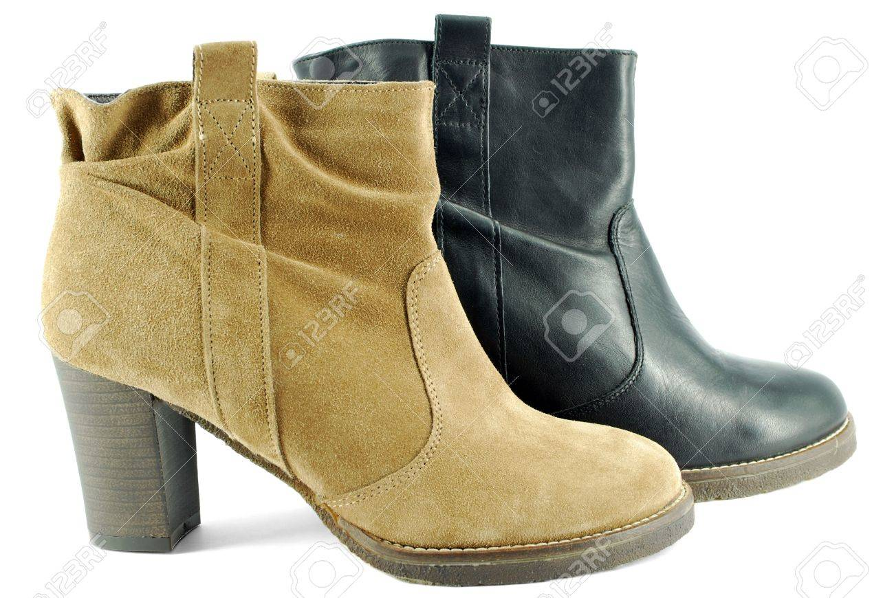 Short Leather Boots For Women - Boot Hto