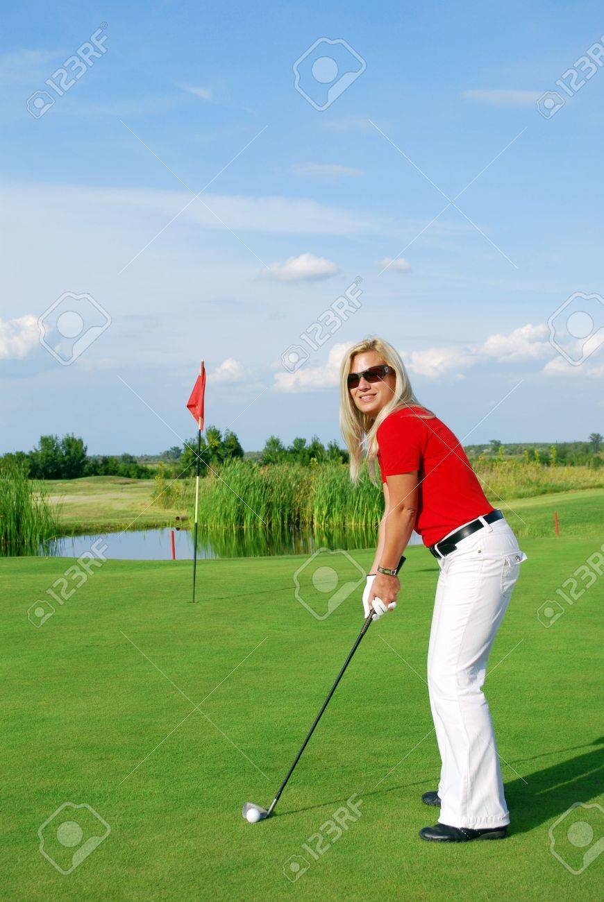 girl golf player Stock Photo - 7807732