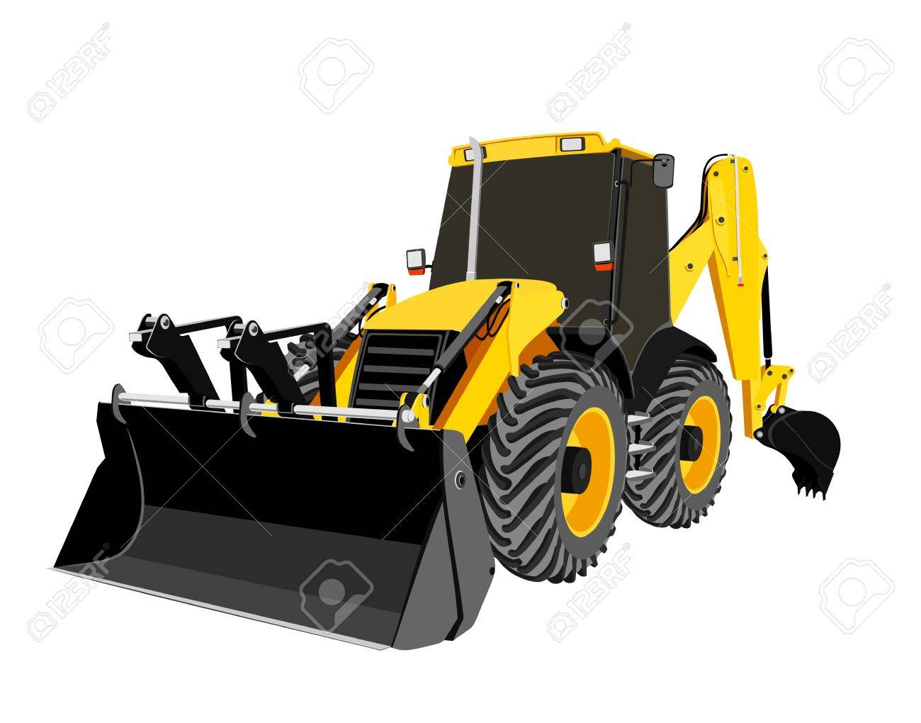 earth-moving bulldozer Stock Vector - 8776105