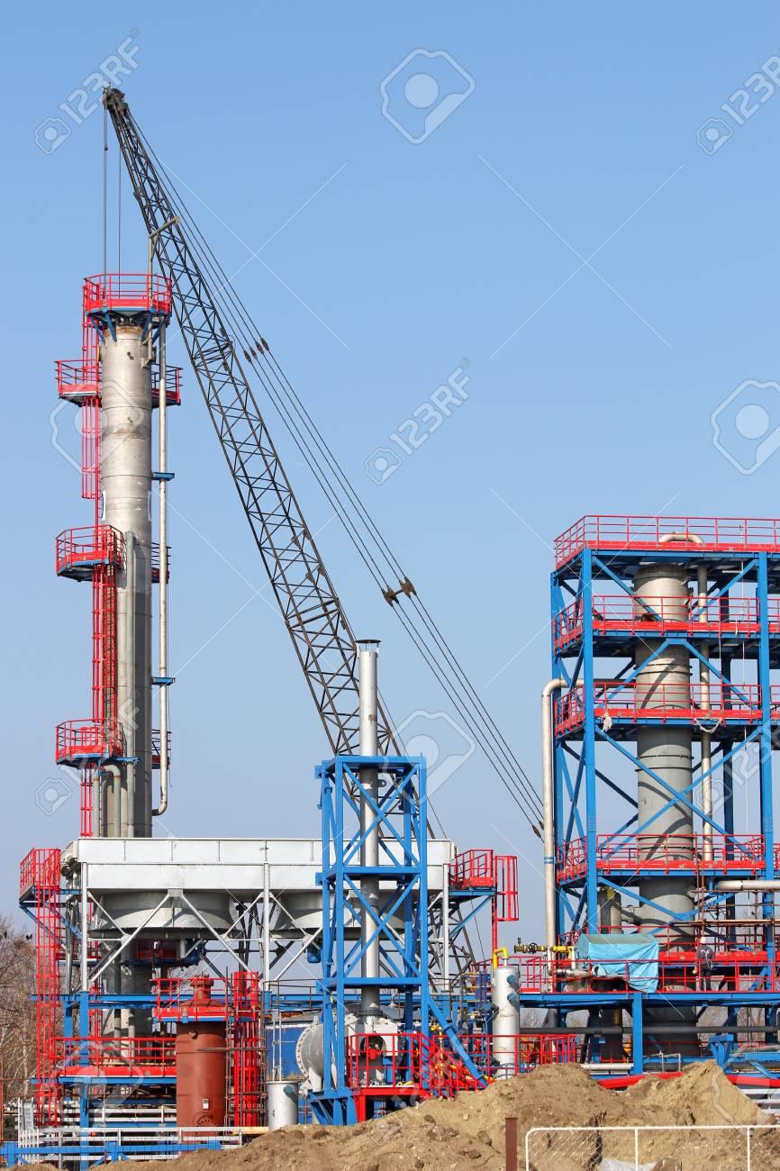 new petrochemical plant construction site
