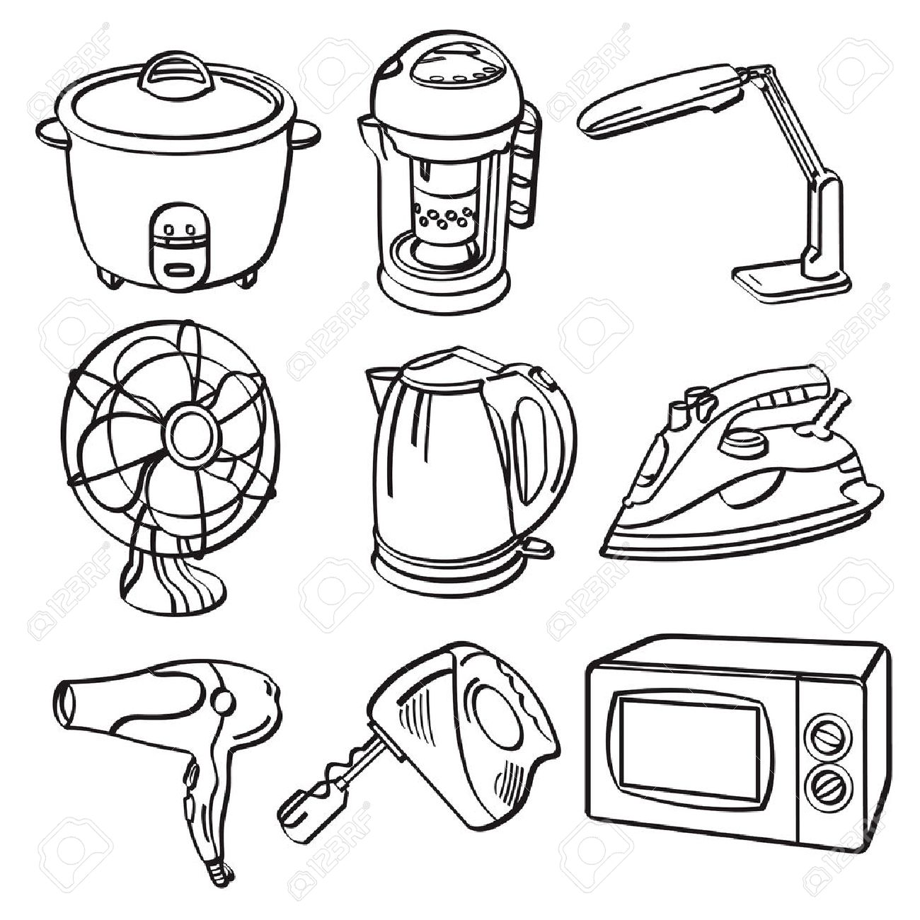 Home Electric Appliances Royalty Free Cliparts, Vectors, And Stock ...
