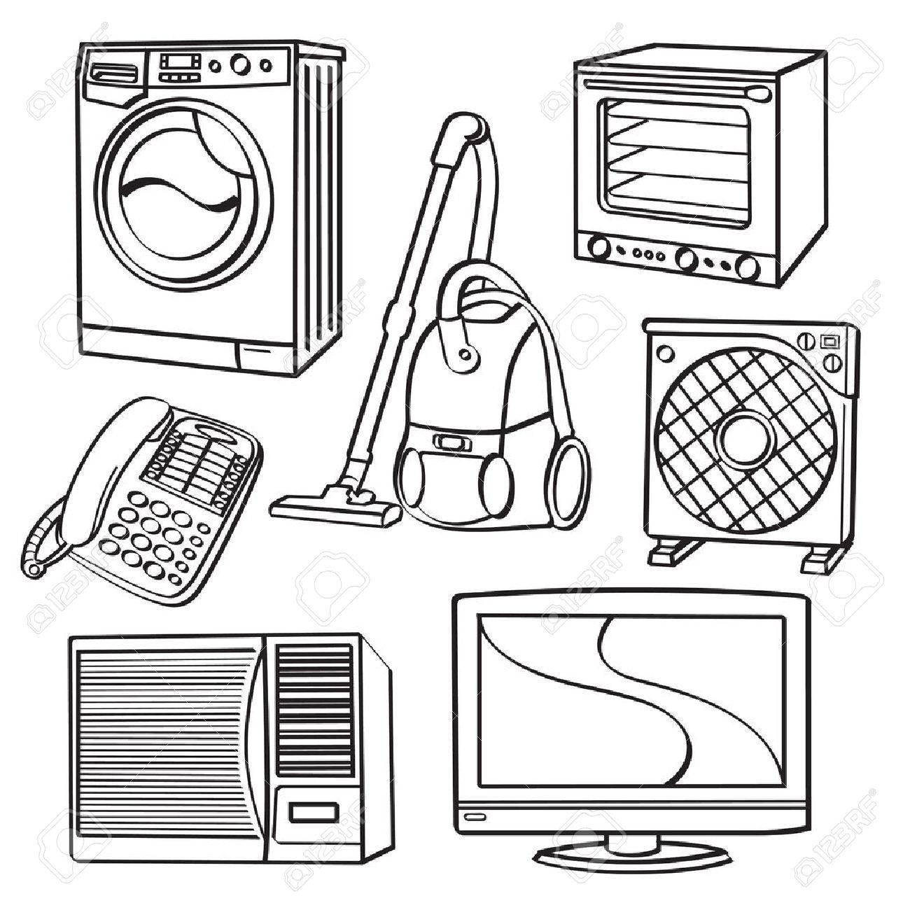 Elektrische Haushaltsgeräte Lizenzfrei Nutzbare Vektorgrafiken, Clip ...