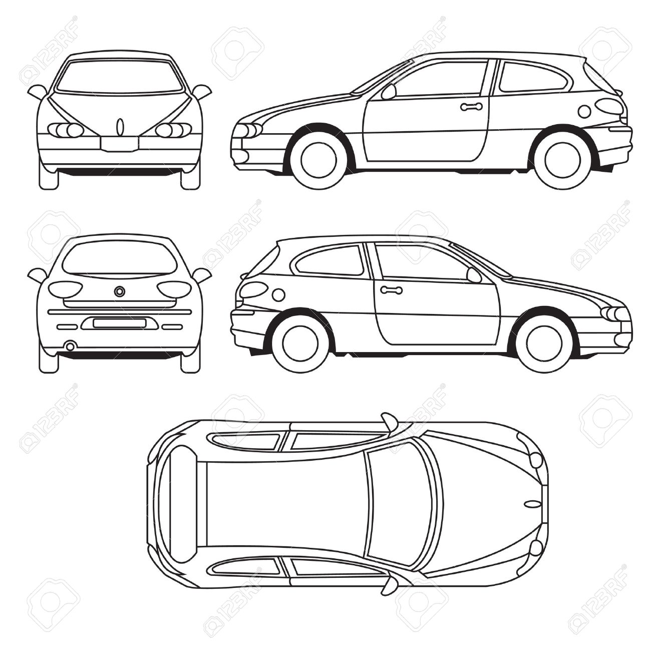 transportation vehicle royalty free cliparts vectors and stock