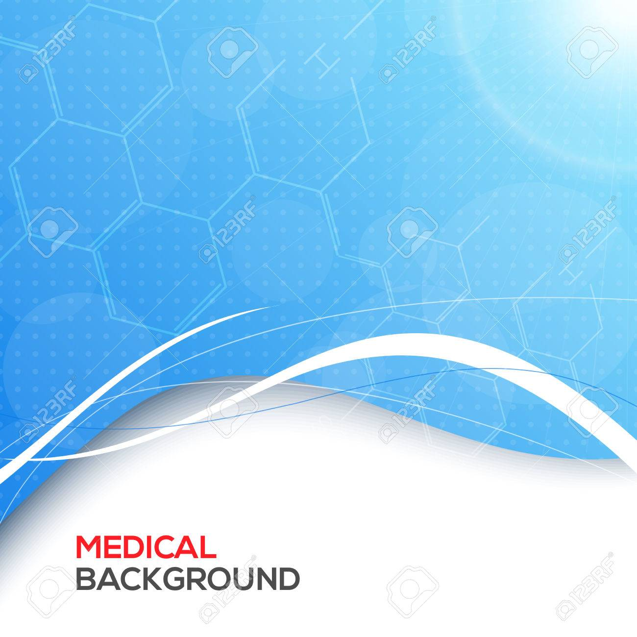 Abstract molecules medical background vector illustration for you Stock Vector - 24166732