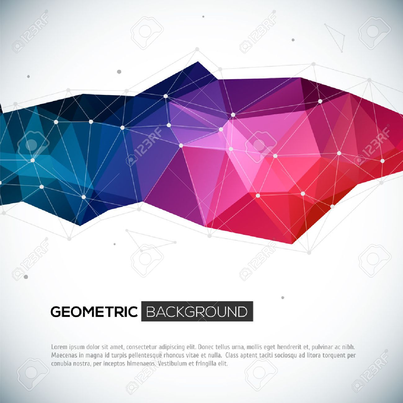 Pics photos 3d colorful abstract background design - Abstract 3d Geometric Colorful Background Vector Illustration For Your Design Stock Vector 25236899