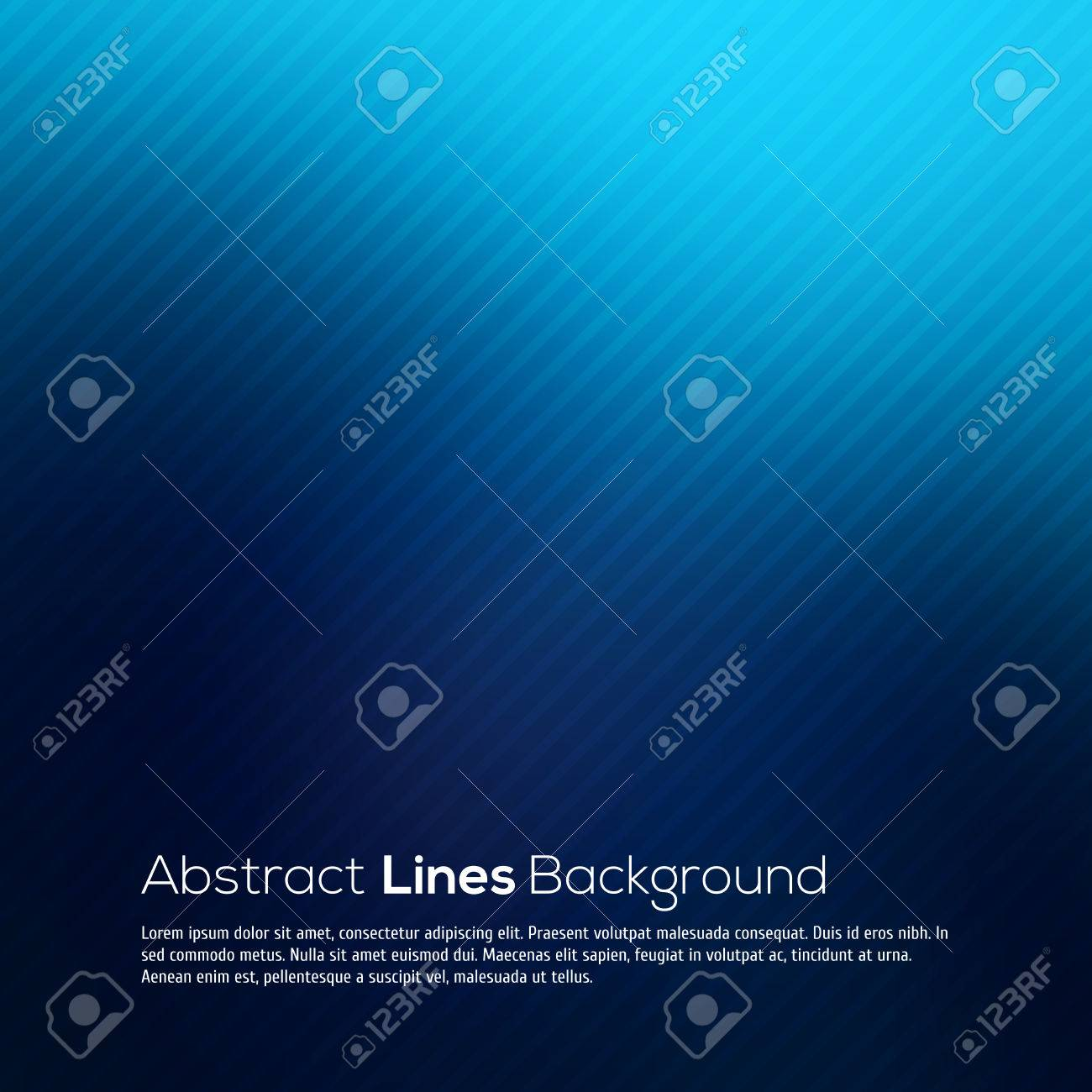 Blue abstract lines business vector background for your design - 30444064