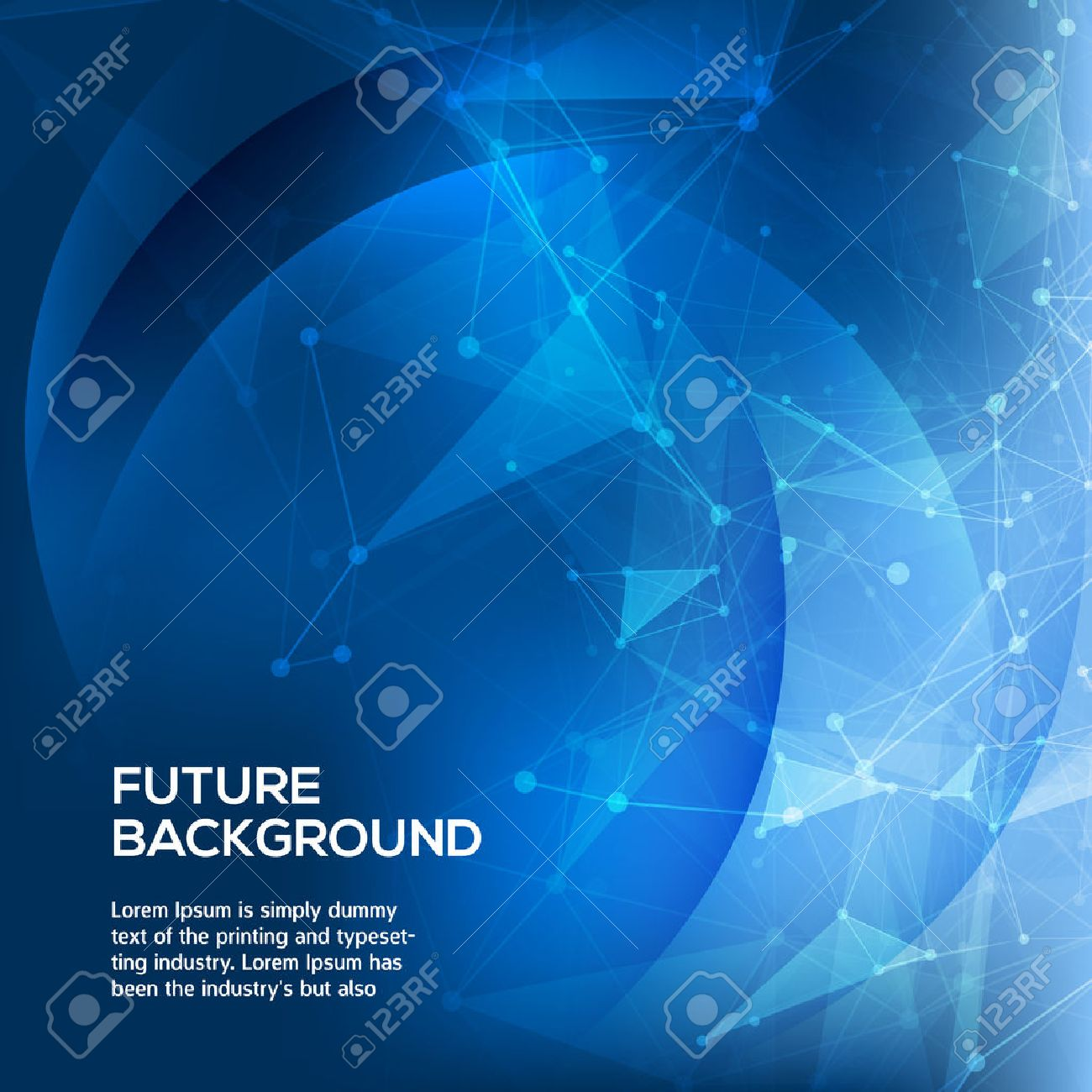 Abstract Blue Background. Abstract polygonal space low poly dark background with connecting dots and lines. Connection structure. Vector science background. Polygonal vector background. Vector Stock Vector - 43280580