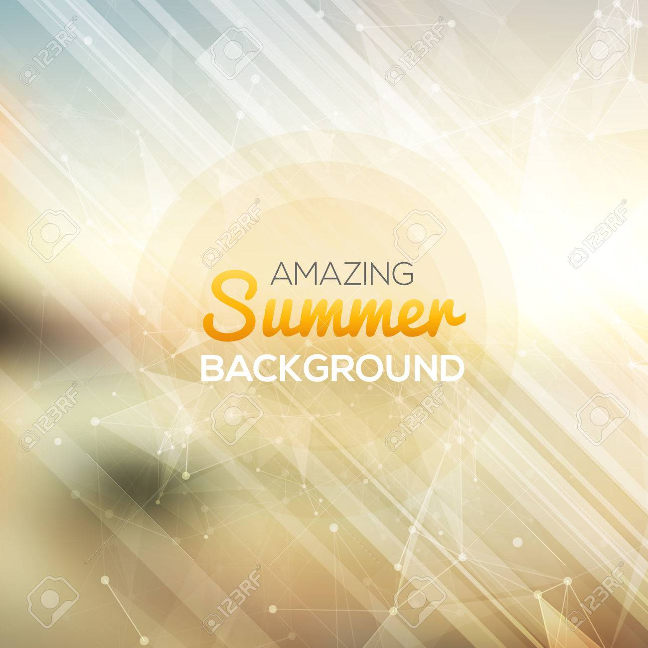 Summer abstract background. Vector illustration - 43842885