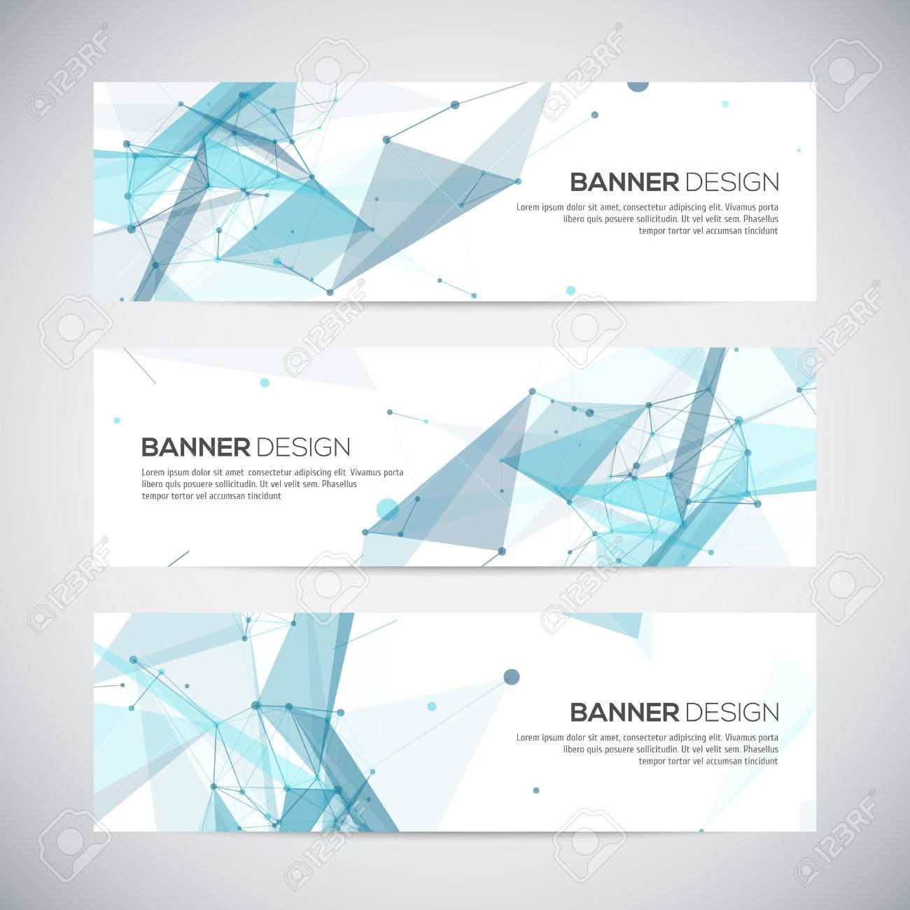 Abstract geometric banner design. Geometric backgrounds. Vector - 49588982