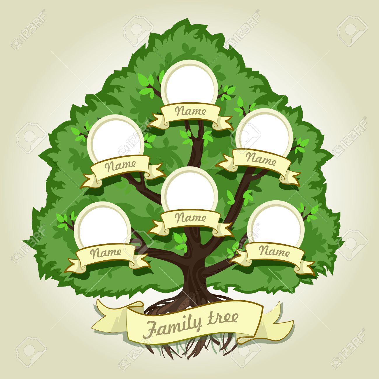 RBol Genealógico De La Familia En El Fondo Gris. Árbol Genealógico ...
