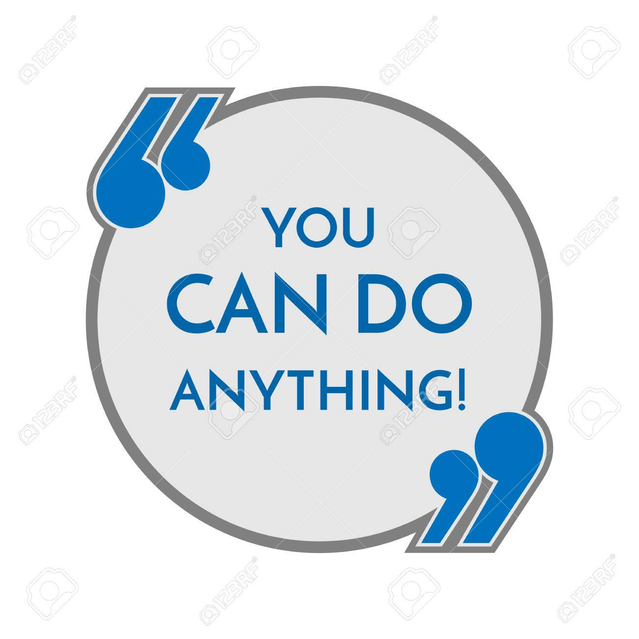 Life Motto In Round Button With Quotes You Can Do Anything Philosophy