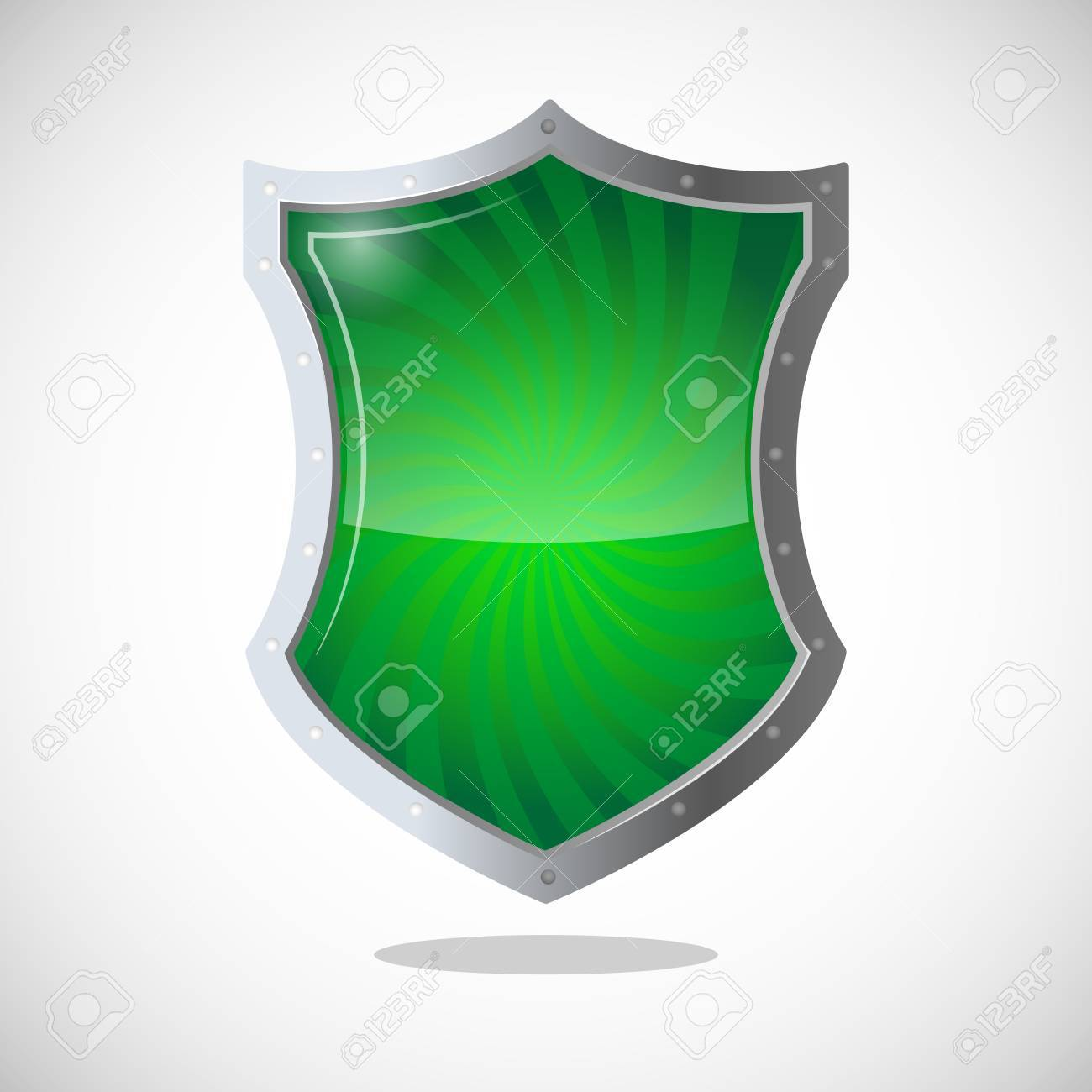 Armour Shield Symbol Of Protection Defence And Security Green