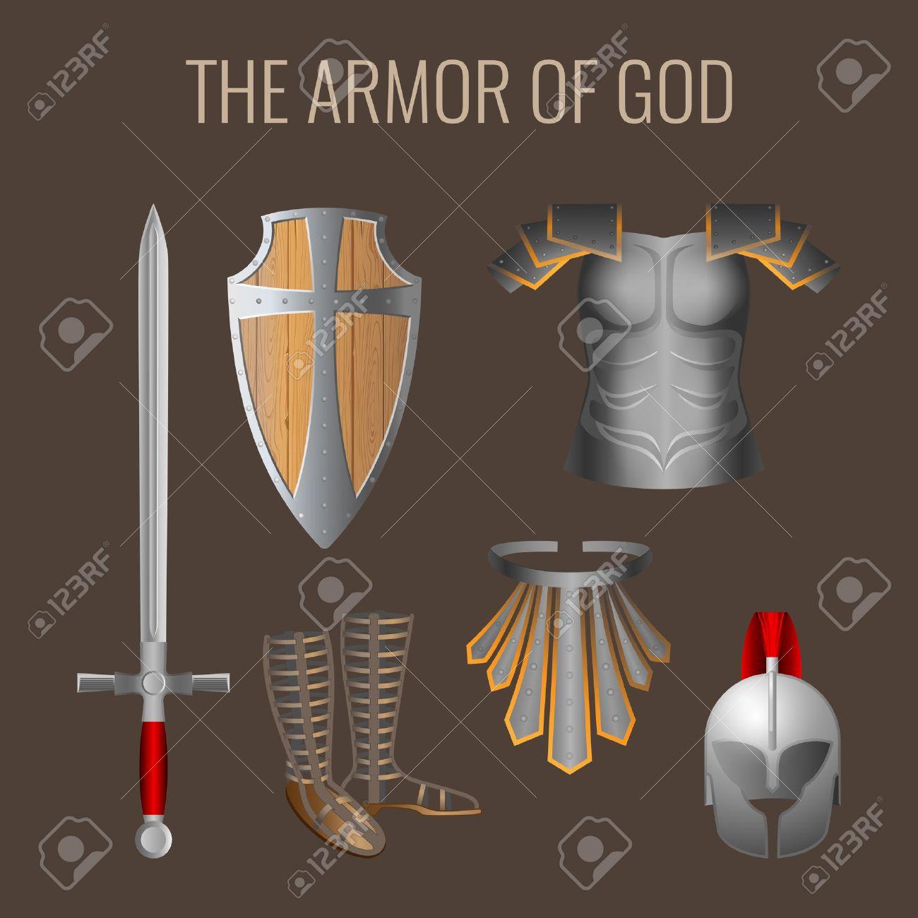 La Armadura De Dios Colección De Elementos Larga Espada Del