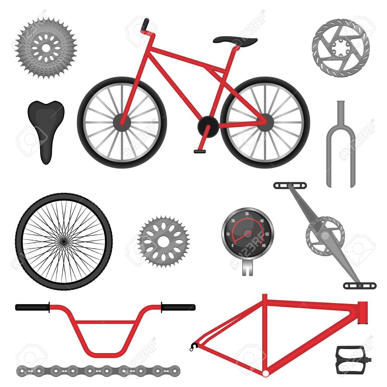 Parts Of Bmx Bike Off Road Sport Bicycle Used For Racing And