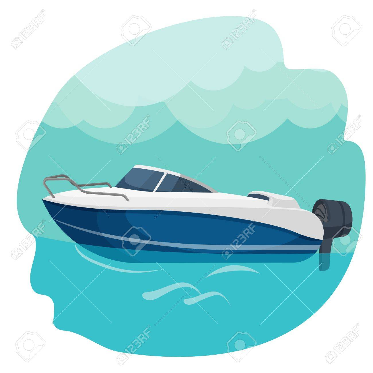 high speed motor boat sailing in sea vector illustration isolated rh 123rf com sea victoria swedish crystal vase sea victory minnie falgout llc
