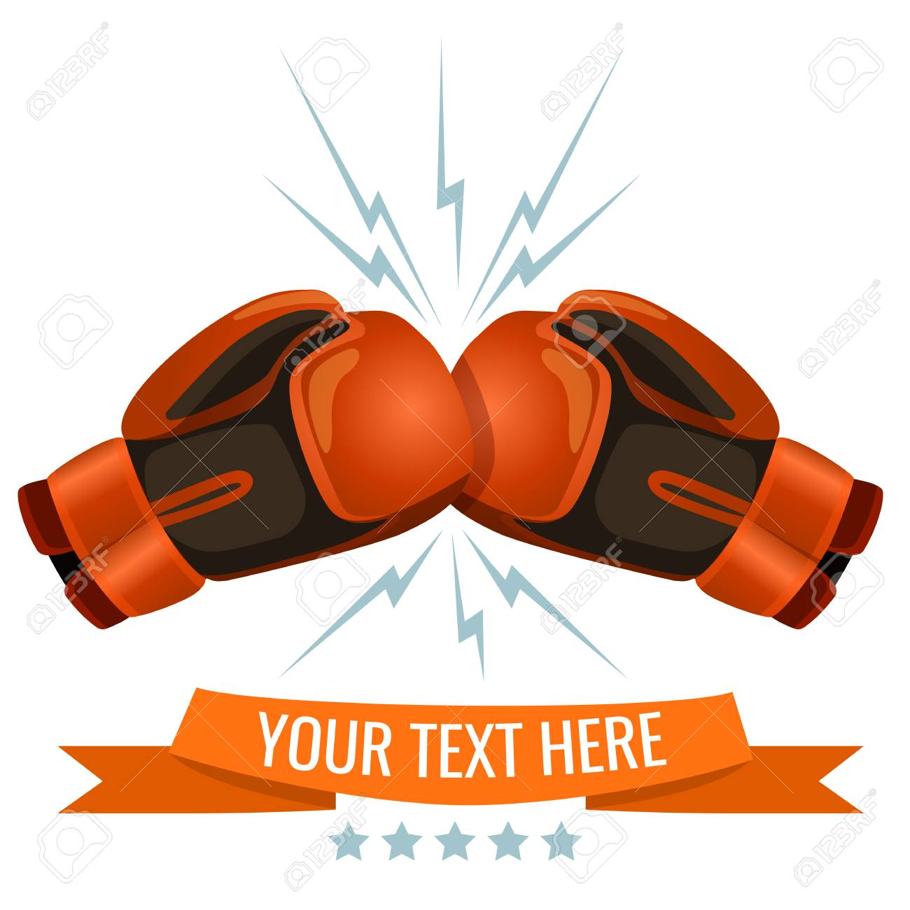 Boxing Gloves Hitting One Another Logotype Design, Add Your Text ... for Matches Clip Art  150ifm