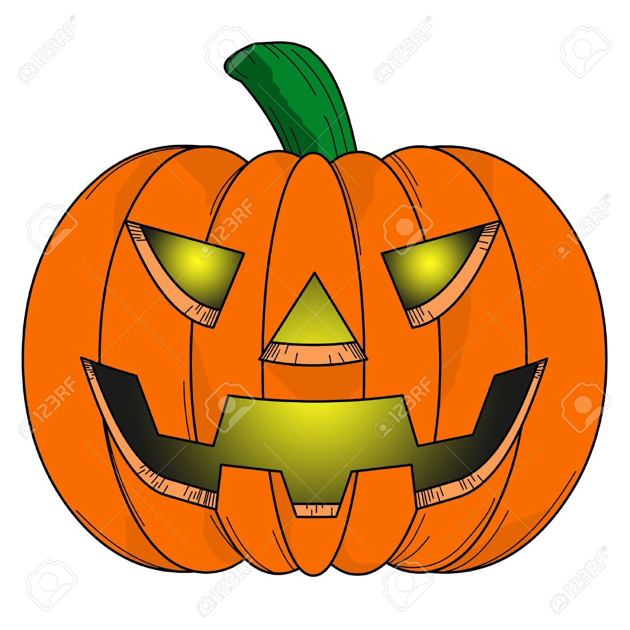 halloween pumpkin comic on white background stock photo picture