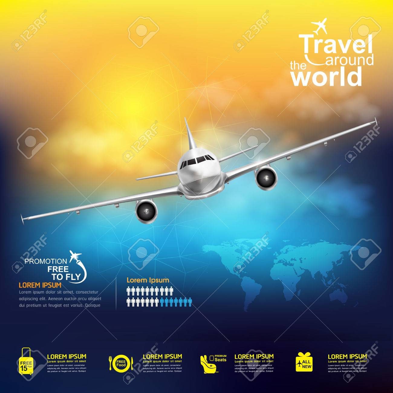 Airline Vector Concept Travel around the World Stock Vector - 48767438
