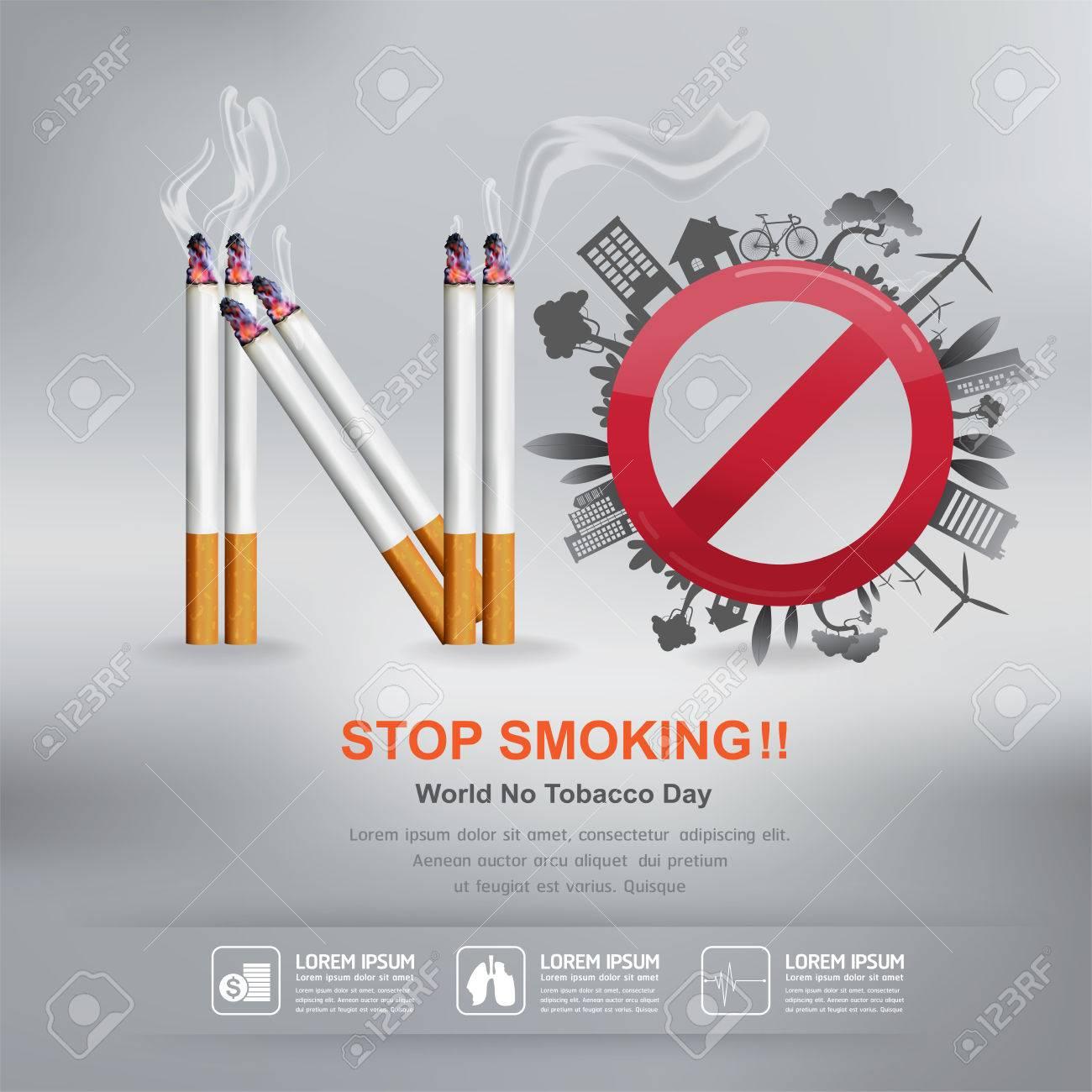 World No Tobacco Day Vector Concept Stop Smoking - 50203806