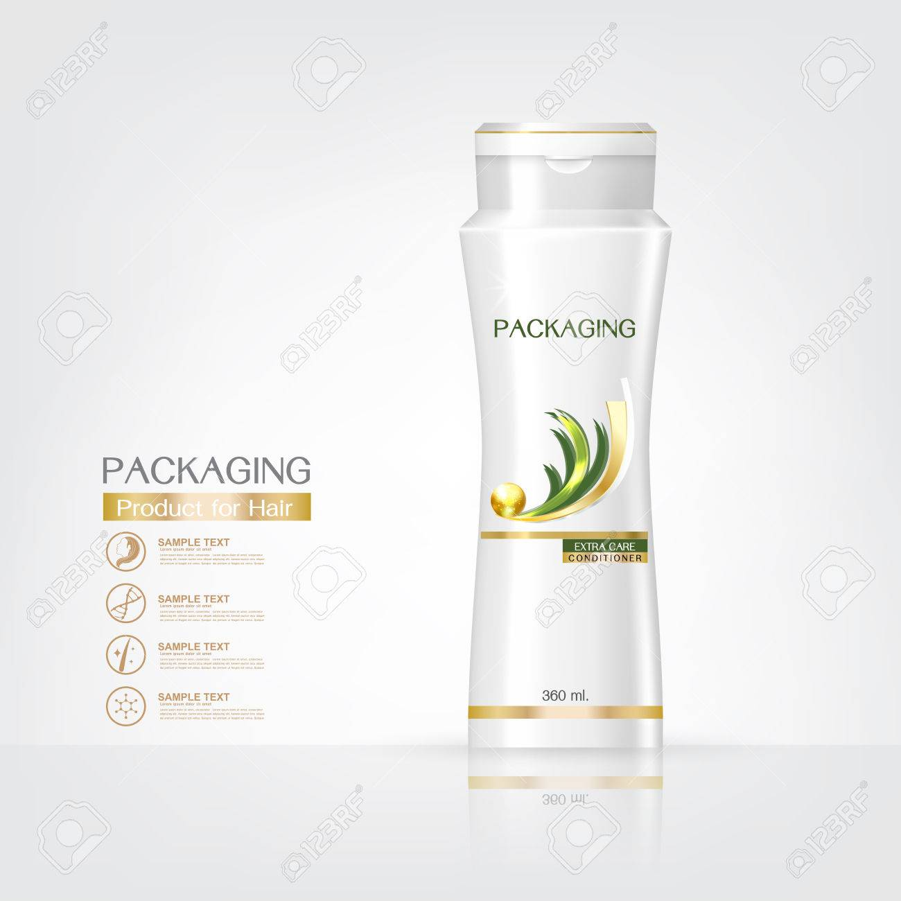 Packaging Products Hair Care Design, Shampoo Bottle Templates ...