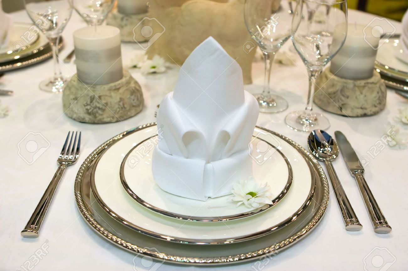 Table Set For A Fancy Dinner Stock Photo Picture And Royalty Free Image Image 2951164