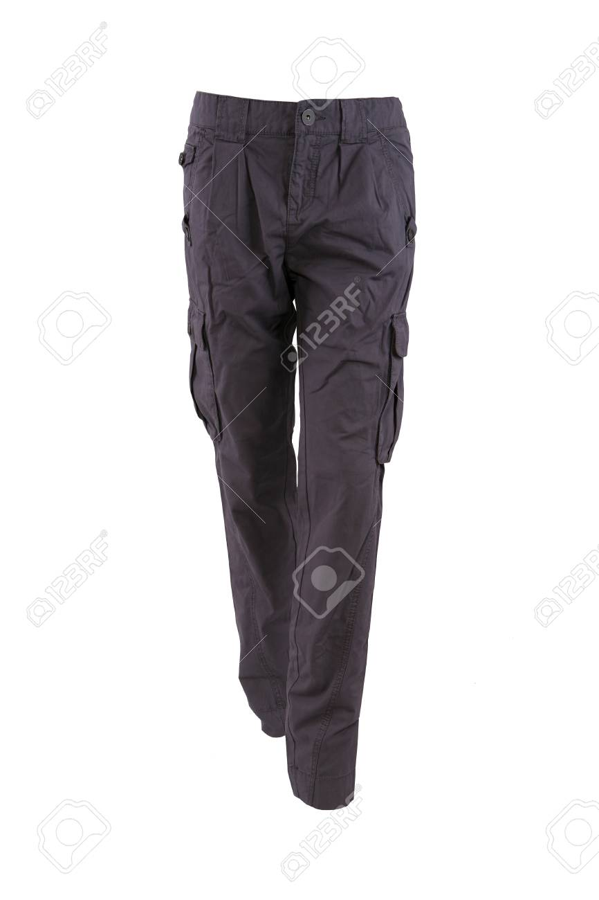 Gray trousers on a mannequin isolated on white Stock Photo - 7924808