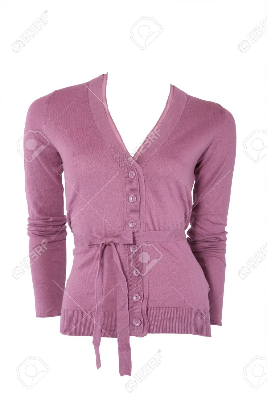 5d03c2d80c58 Elegant Cashmere Female Cardigan Isolated On White Stock Photo ...