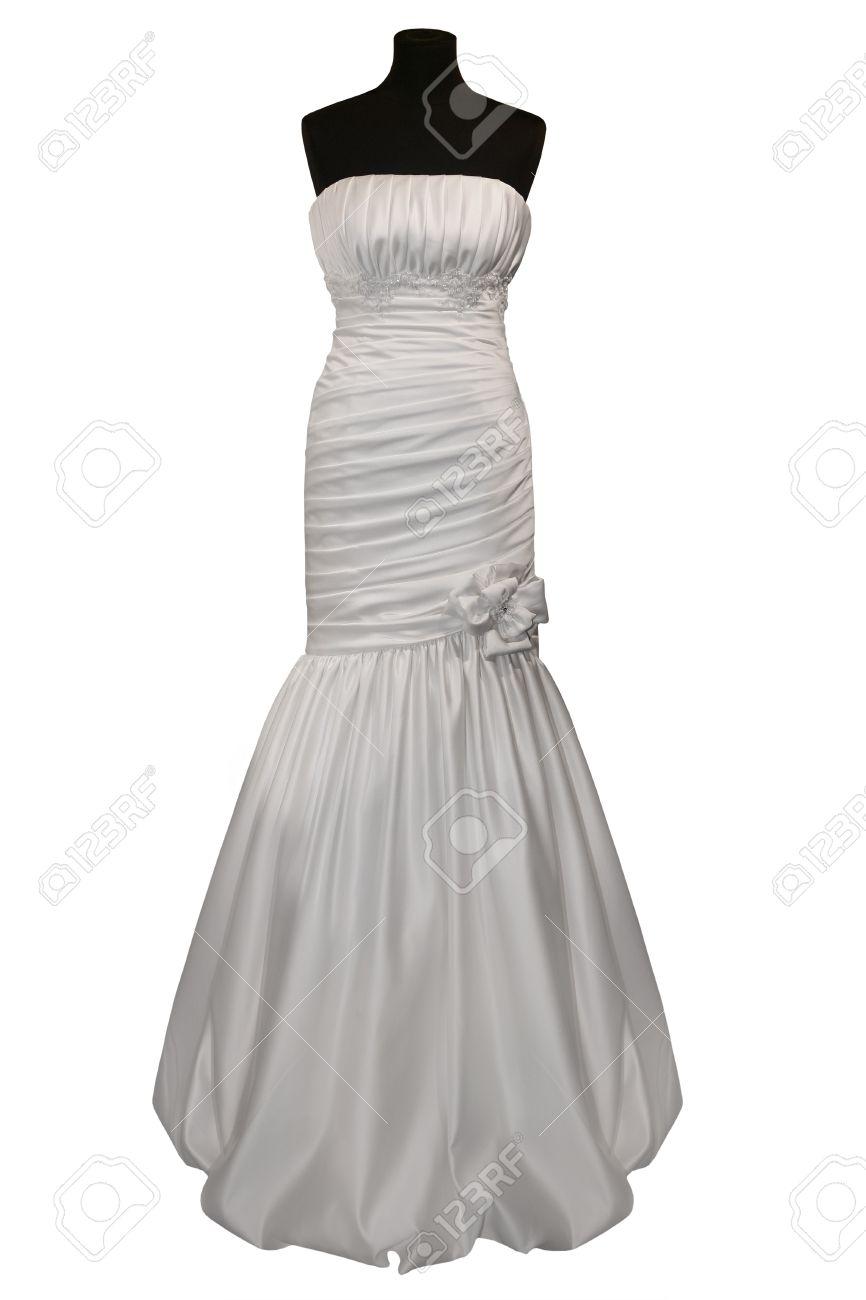 Wedding dress on mannequin isolated on white Stock Photo - 8773563