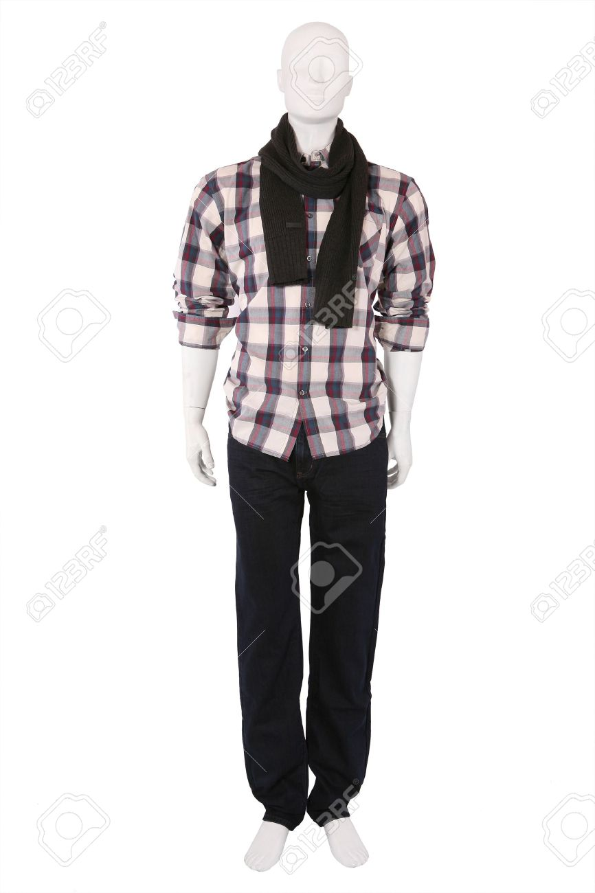 Male mannequin dressed in fashionable clothes, isolated on white Stock Photo - 9430270