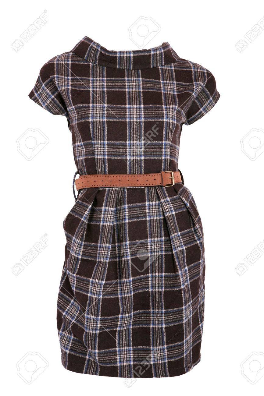 1fff7199469 Female Checkered Dress With Belt