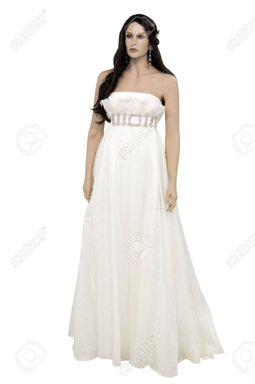 Mannequin In Wedding Dress, Isolated On White Stock Photo, Picture ...