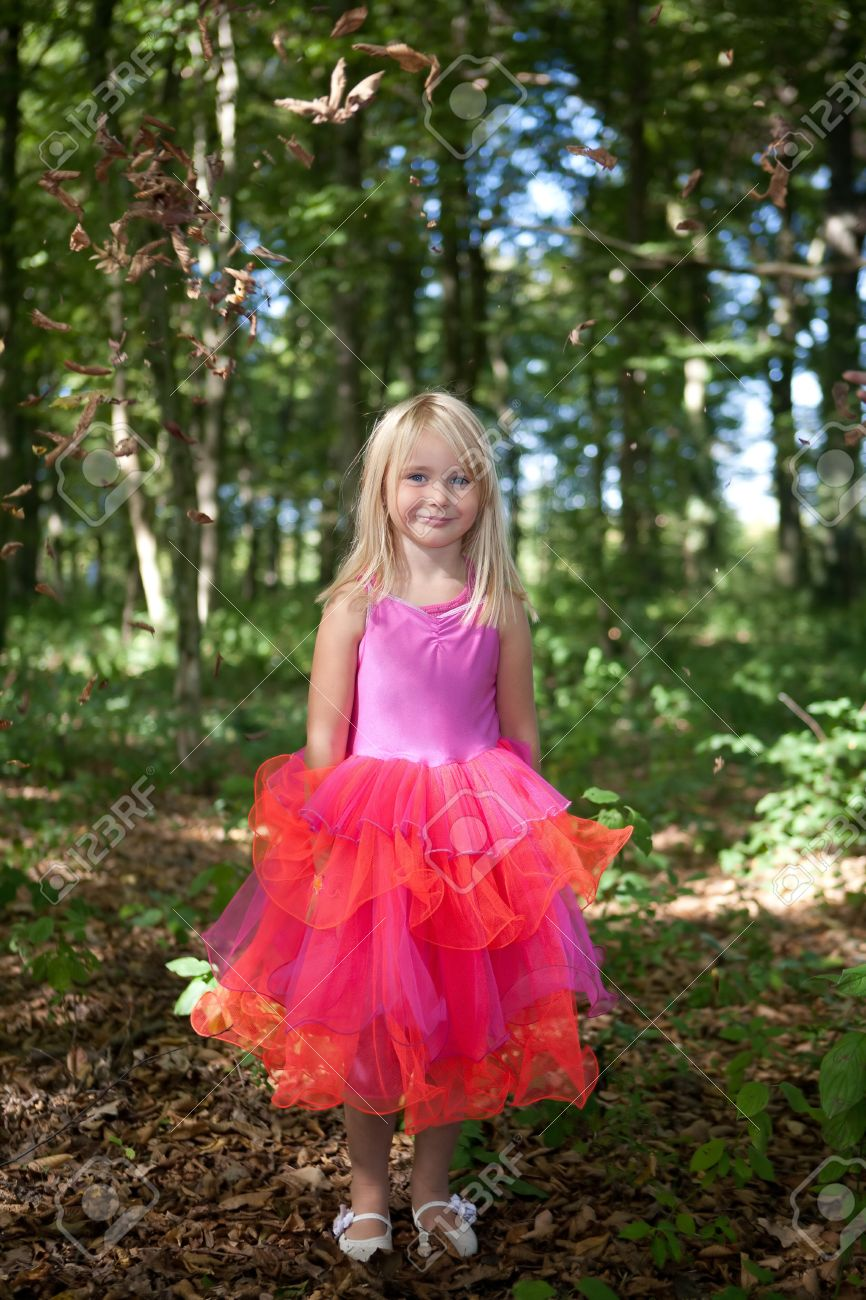 Little girl in fairy costume in the forest Stock Photo - 10930514  sc 1 st  123RF.com & Little Girl In Fairy Costume In The Forest Stock Photo Picture And ...