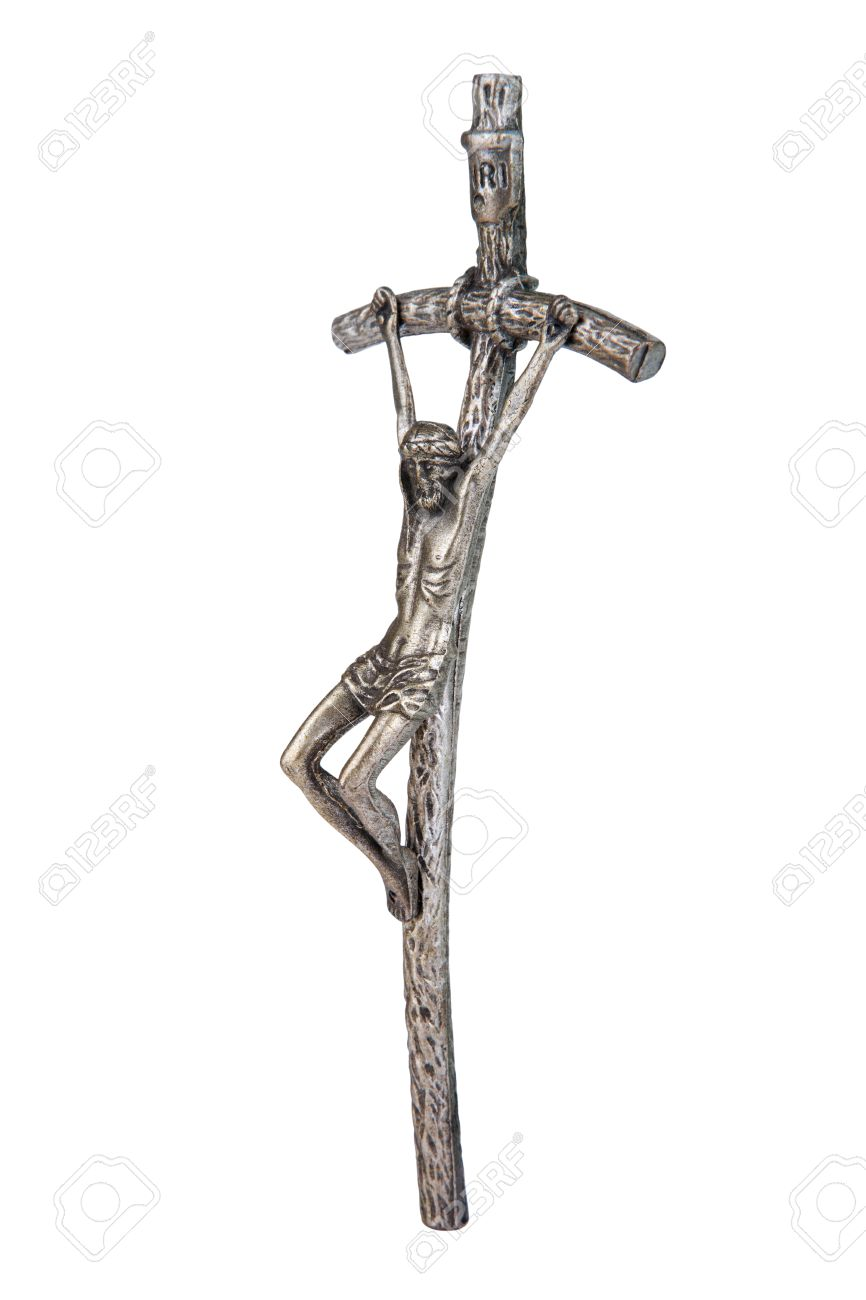 The bent cross crucifix that was using pope john paul ii side the bent cross crucifix that was using pope john paul ii side view stock buycottarizona Choice Image