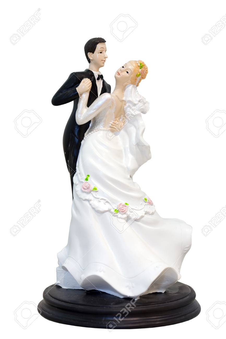 A Wedding Couple Figurines Models For Wedding Cake Isolated Stock Photo Picture And Royalty Free Image Image 26136280