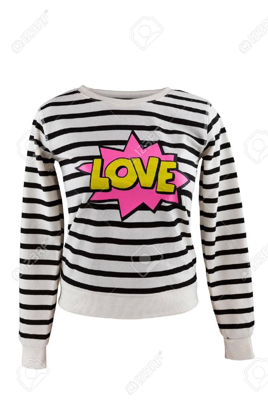 d5e7d1868108 Striped Sweater With  Love  Sign