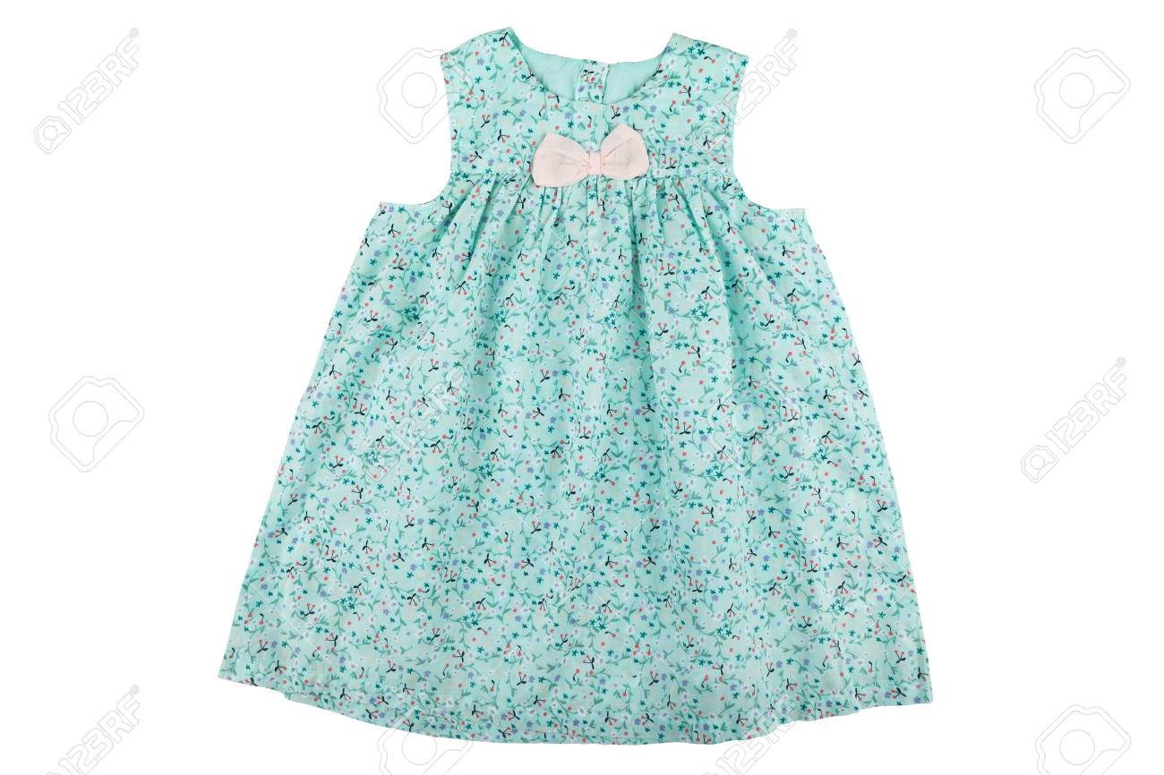 959002576b0c Baby Dress With Floral Print Stock Photo