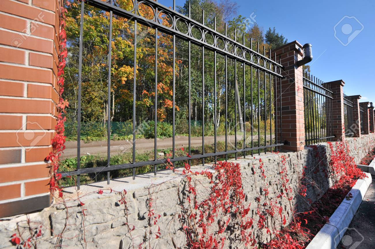 st petersburg russia september 29 2015 the fence around the apartment