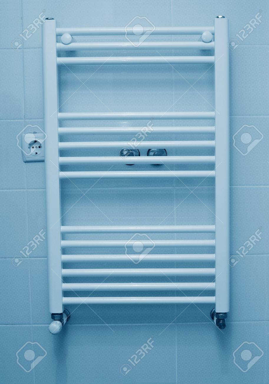 Gas Heater For Clothes Drying In Bathroom Stock Photo   46269225