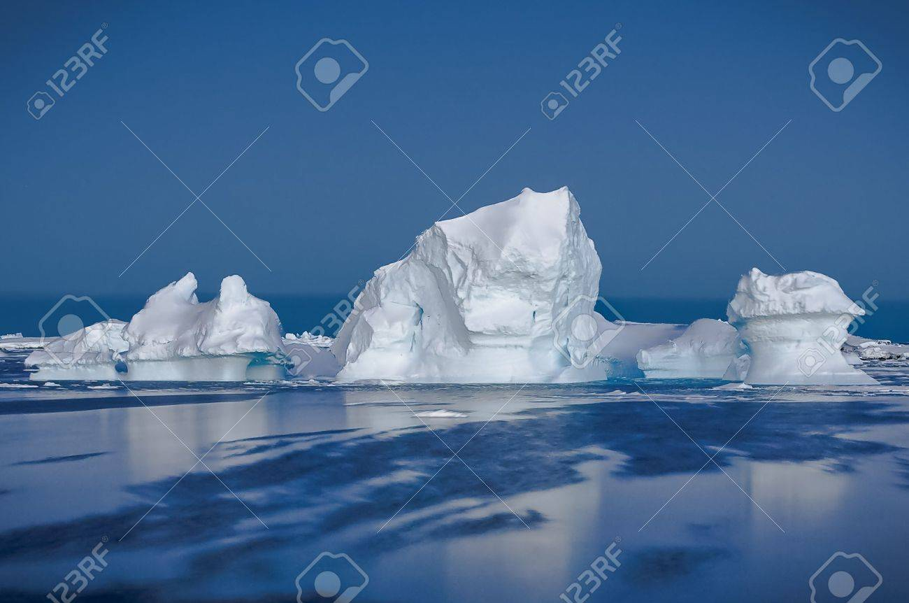 Antarctic iceberg in the snow Stock Photo - 7852502