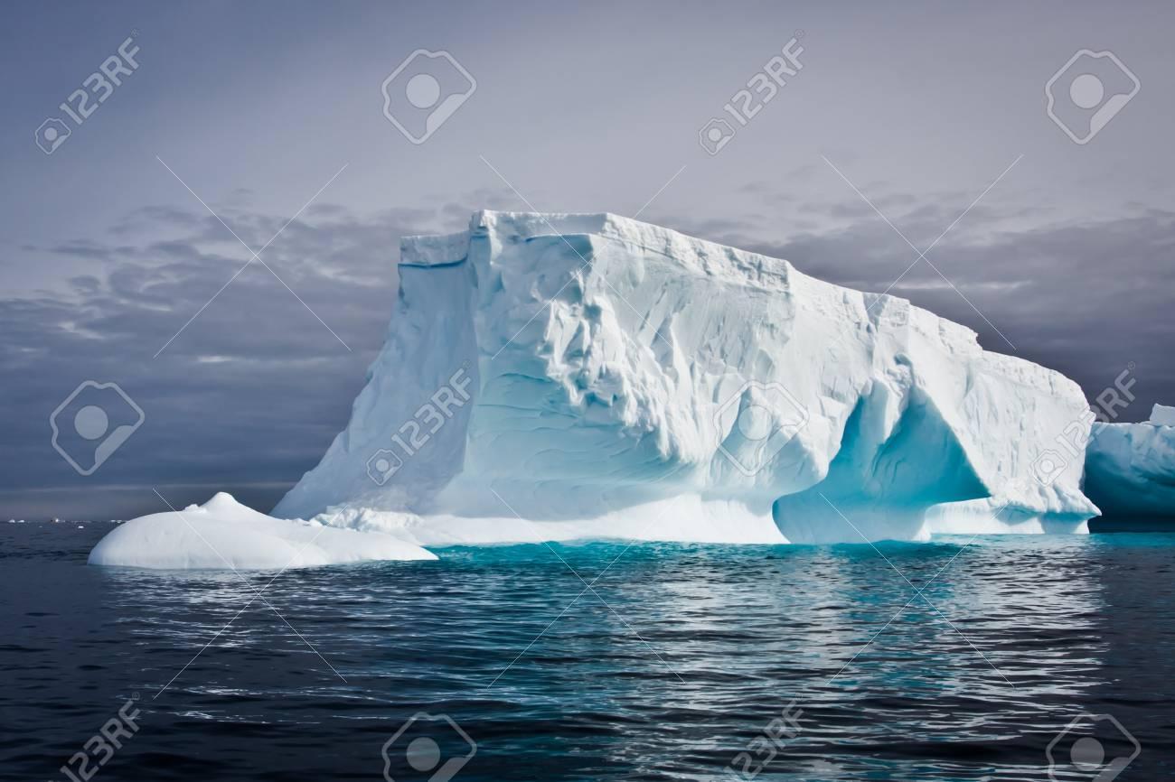 Antarctic iceberg in the snow Stock Photo - 7942278