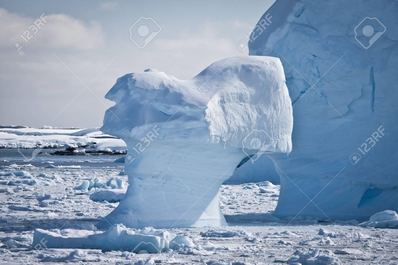 Antarctic iceberg in the snow Stock Photo - 8014324