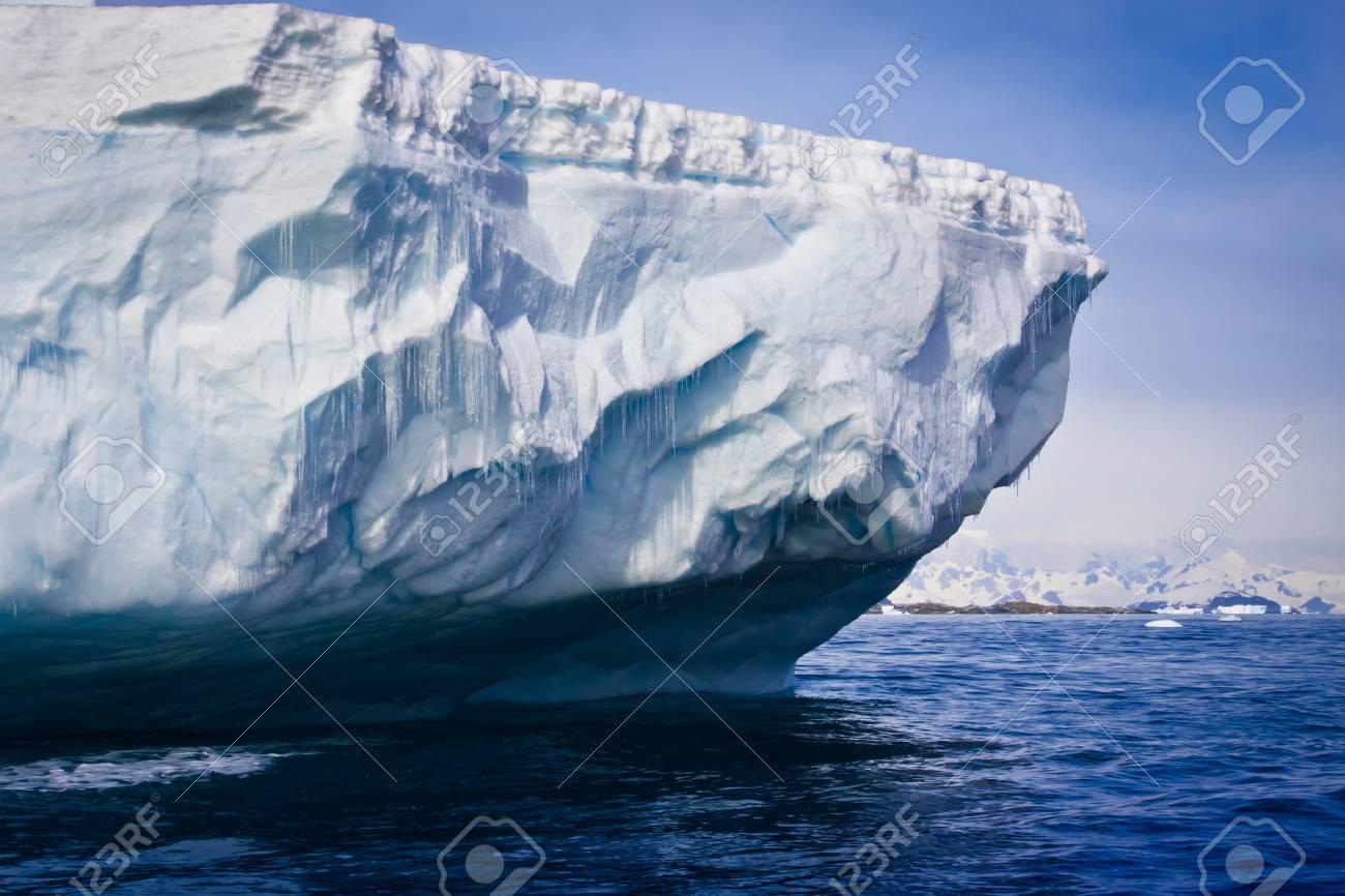 Antarctic iceberg in the snow Stock Photo - 8014321