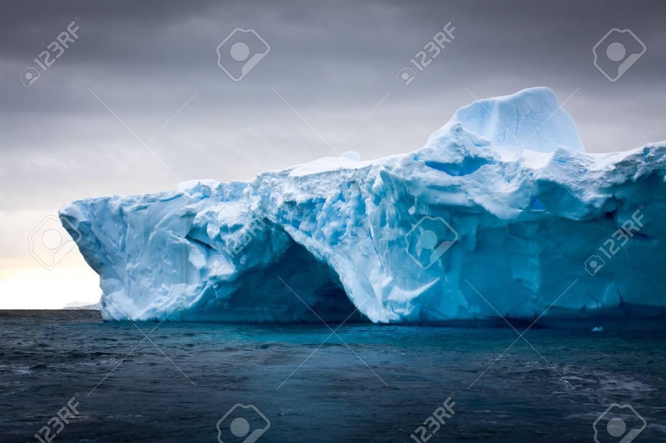 Antarctic iceberg in the snow Stock Photo - 8130490