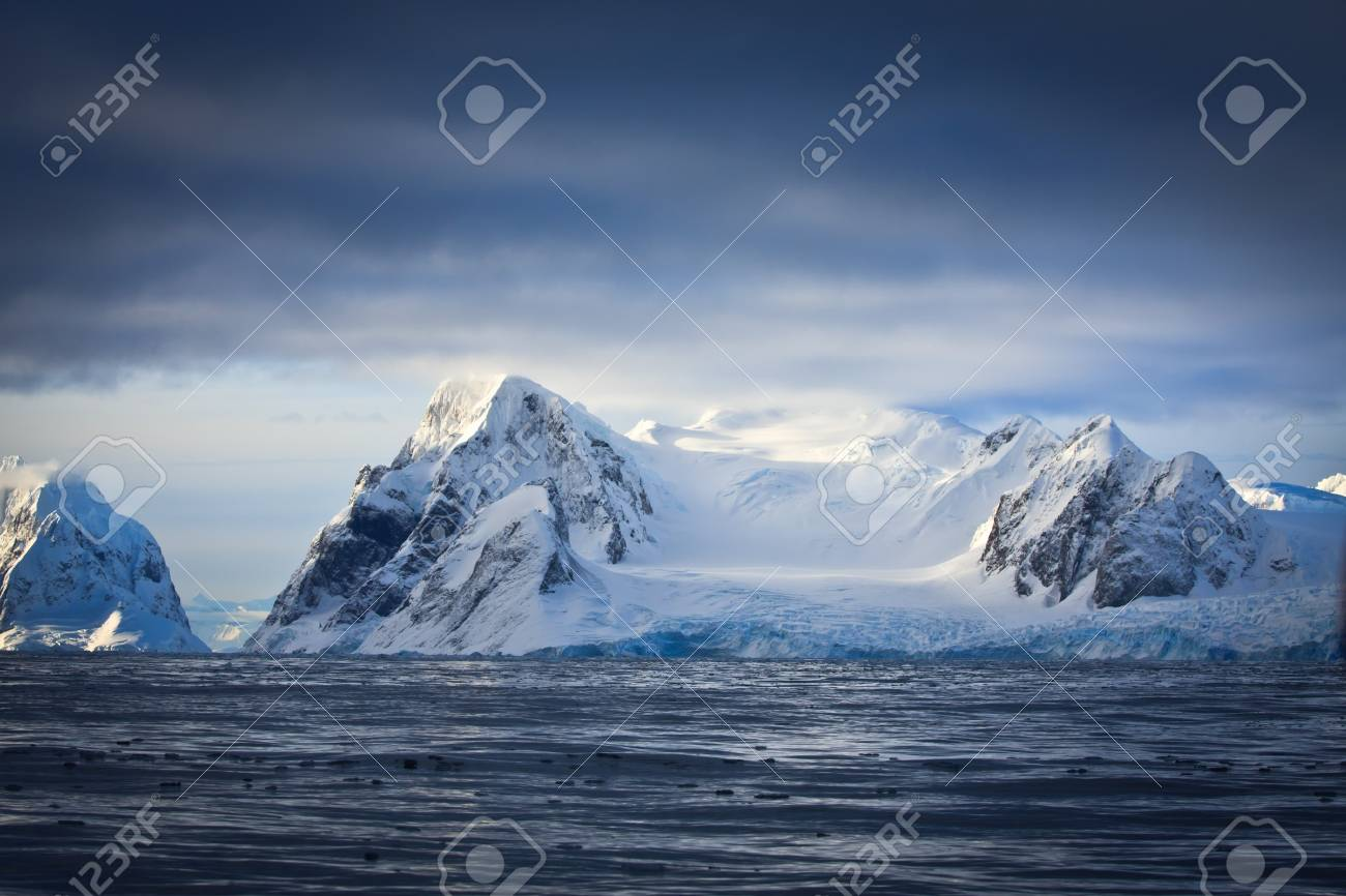 Beautiful snow-capped mountains against the sky Stock Photo - 8130551