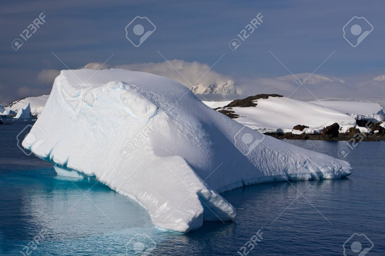 Antarctic iceberg in the snow Stock Photo - 8312039