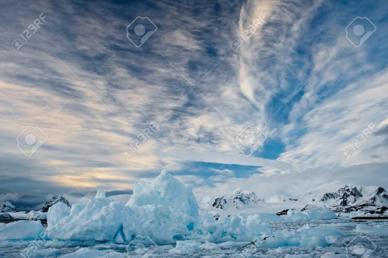 Beautiful snow-capped mountains against the blue sky Stock Photo - 8410860
