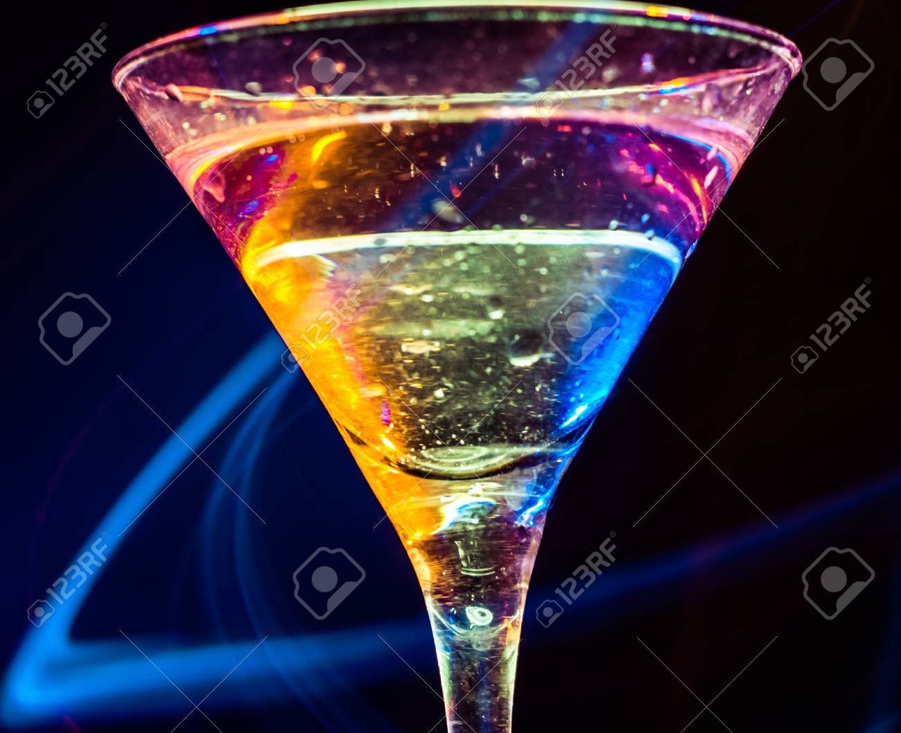 colourful coctail on the black background Stock Photo - 15097313
